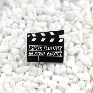 3/$30🎉 Speak Fluently in Movie Quotes Brooch Pin